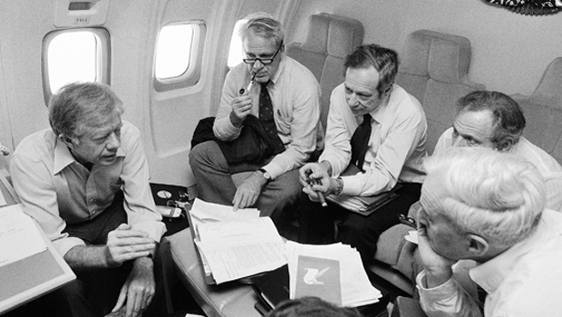 Jimmy Carter In Flight 1979