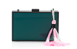 Tropical Forest Tassel Clutch