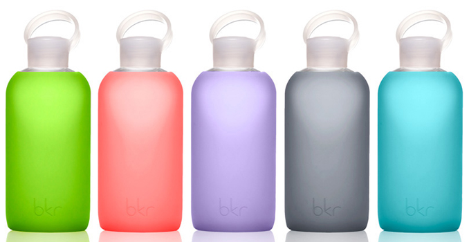 Glass + Silicone Waterbottles