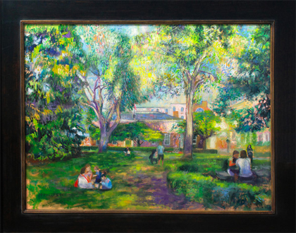 Original Palmer Square Painting by James McPhillips
