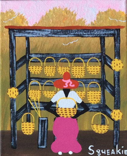 Basket Lady, $150
