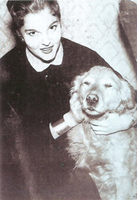 Sonya at age 14 with her dog Silky