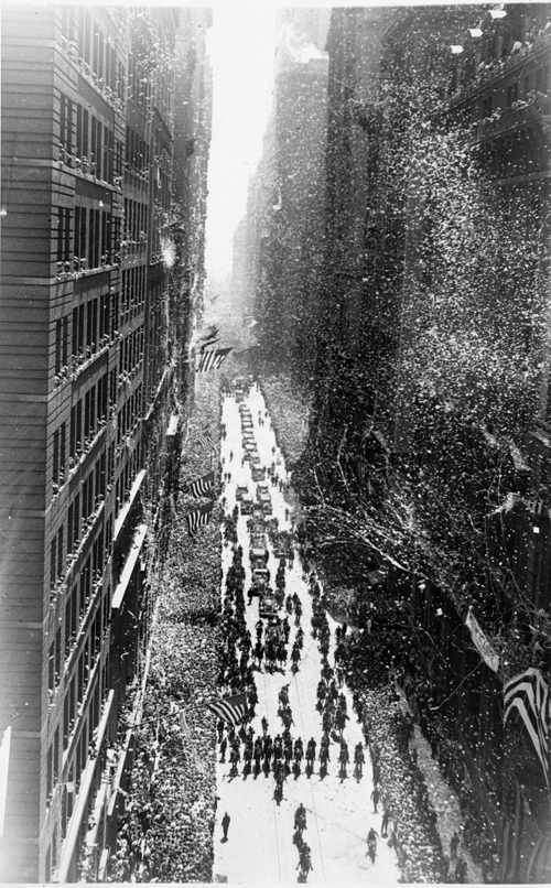 Ticker tape parade honoring Charles A. Lindbergh. New York City. June 13, 1927.