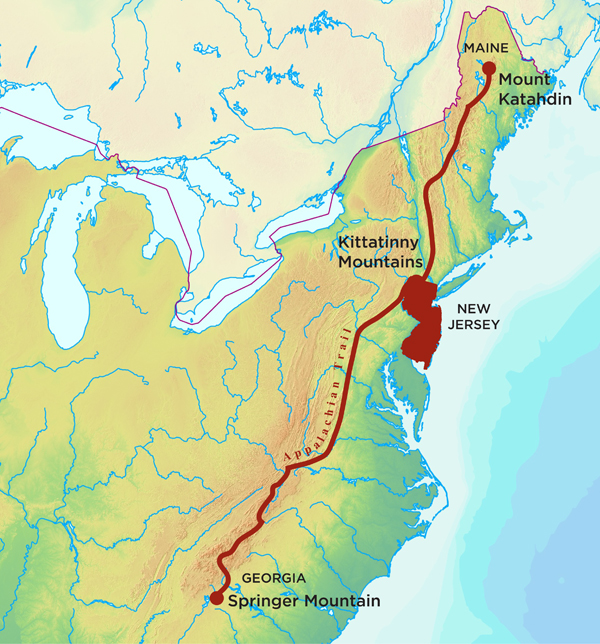 Hiking The Appalachian Trail In New Jersey Princeton Magazine - Us map appalachian mountains
