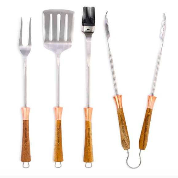 4 Schmidt Brothers Copper Top 4-Piece BBQ Set