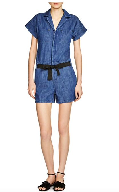 5 Maje Party Denim Romper