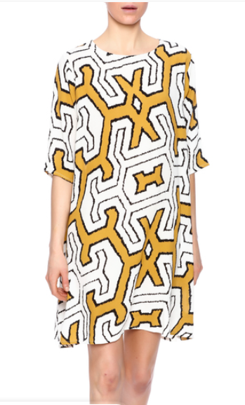 6 Abstract Print Shift Dress