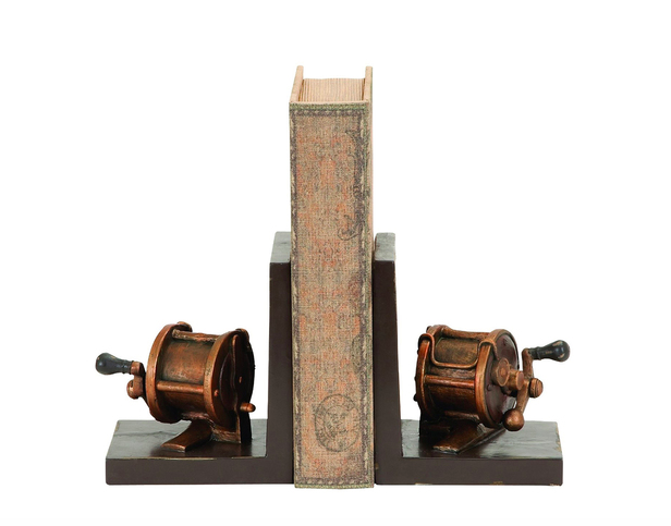 Brass Reel Bookends