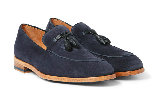 Conway Tasseled Suede Loafers