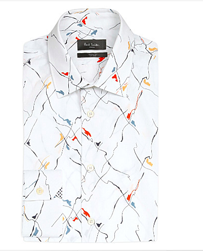 Modern Art-Print Cotton Shirt