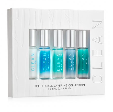 CLEAN Rollerball Layering Collection (Air, Cool Cotton, Warm Cotton, Fresh Laundry, Rain)