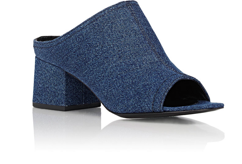 "3.1 Phillip Lim Denim ""Cube"" Mules 1"