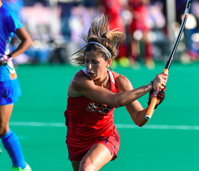 Katie Reinprecht, (Photo by Mark Palczewski, Courtesy of USA Field Hockey)