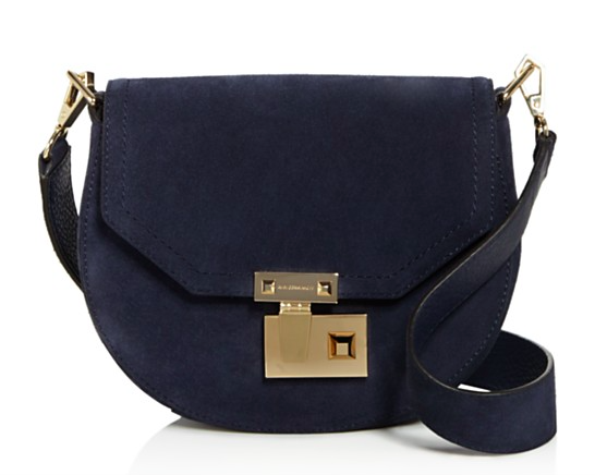 Rebecca Minkoff Medium Paris Suede Saddle Bag.